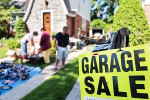 Shop at garage sale